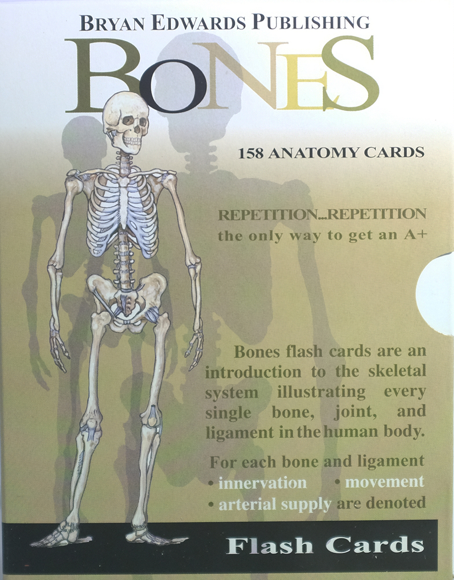 Bones Flash Cards Bryan Edwards Publishing