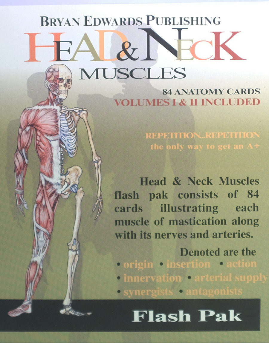 Head Neck Muscles Flash Cards Bryan Edwards Publishing