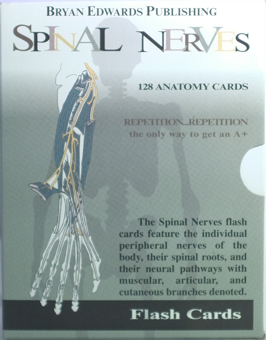 Spinal Nerves Flash Cards Bryan Edwards Publishing